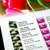 integrated address labels